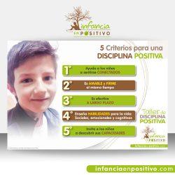 Cartel con los 5 Criterios de Disciplina Positiva