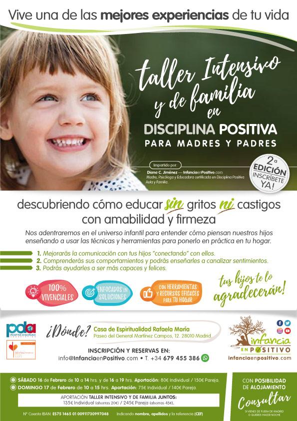 Taller de Disciplina Positiva en febrero de 2019 en Madrid