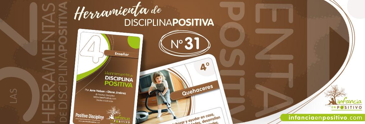 Herramienta de disciplina positiva: Quehaceres