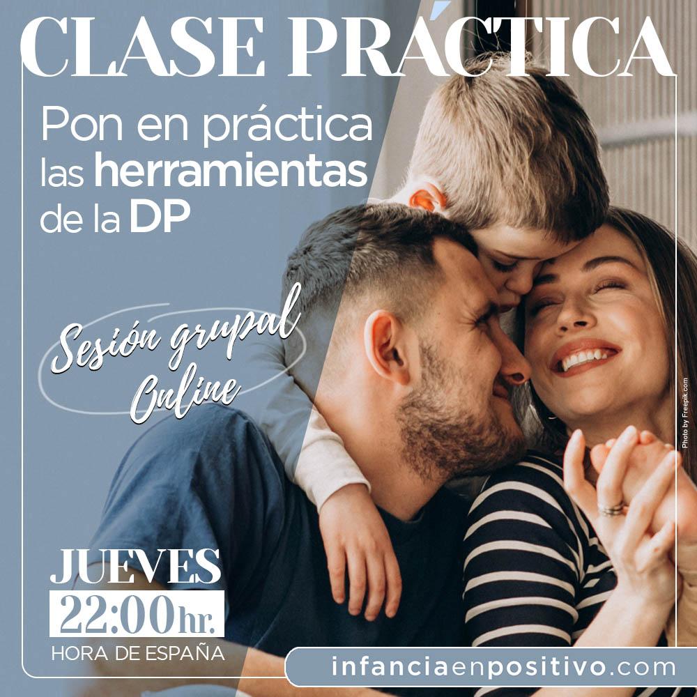 clase práctica online disciplina positiva